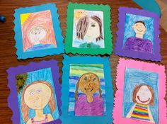 Student self portraits with frames they make
