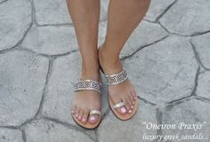 Bridal SandalsNioviLeather SandalsDecorated