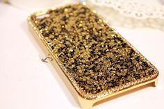 Luxury Crystal Bling Rhinestone Hard Back Case Cover Iphone 4 4s Gold