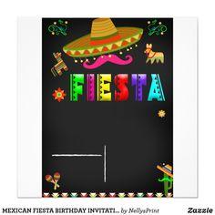 INVITACIÓN MEXICANA DEL CUMPLEAÑOS DE LA FIESTA Mexican Fiesta Birthday Party, Fiesta Theme Party, Mexican Invitations, Birthday Invitations, Mexico Party, Fiesta Decorations, 9th Birthday Parties, Party Signs, Mexican Art