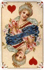 Cartes - Dame de Coeur Ancienne
