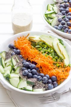 Phase 3: This detox salad is packed with a variety of tastes, textures and colors to make sure you get all the nutrients you need! Use 1 cup blueberries and 1/4 cup of your favorite seeds for a one-bowl lunch.