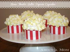 Movie Theater Butter Popcorn Cupcakes - Award Show Party Ideas