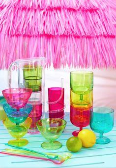 821e1eb6dd Tesco direct  Epicurean 12 Piece Acrylic Tinted Soda Glass Set with 3 Mixed  Colours