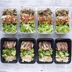 Mid-week meal prep featuring Chipotle Style Carnitas Bowls and Citrus Soy Glazed Chicken with Broccoli and Rice.  Great for lunch or dinner! Recipes and nutrition info included.