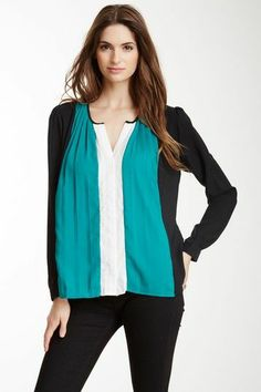 pleated color blocked~