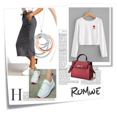 """""""Romwe 10"""" by dedic-elvira ❤ liked on Polyvore featuring Post-It and Tiffany & Co."""