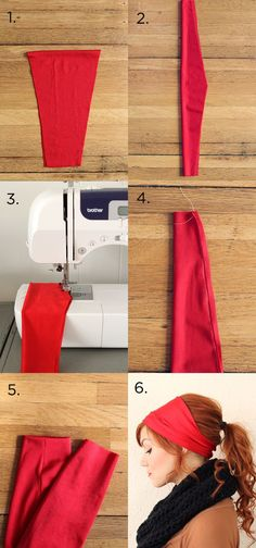 Totally making this headband for my running days...headband tutorials.