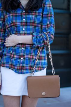 Orchids and Oxfords: Winter White Skirt