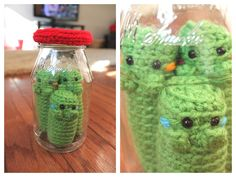 Amigurumi Food: Pickle Amigurumi Free Pattern!