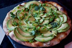 avocado pizza from J&G grill in Mexico City