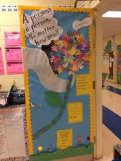 My Dr. Seuss door for Read Across America.
