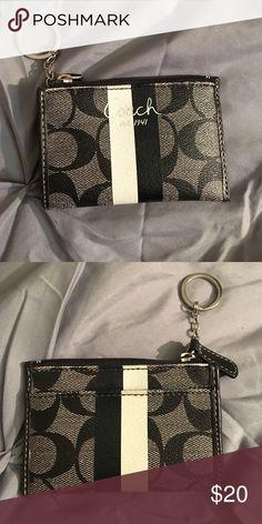*LIKE NEW* Coach key chain change purse Coach key chain change purse. Zipper top and card slot in the back. Like new! Coach Bags Wallets