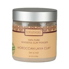 ELMA&SANA® Moroccan Ghassoul Lava Clay- 8oz(235gr) by ELMA&SANA. Save 47 Off!. $7.99. ELMA&SANA® Ghassoul Clay is an exceptional clay with multipurpose assets. It is mined in the fertile Atlas mountains of Morocco and has been used for over 12 centuries by population in North Africa, Southern Europe and Middle East.  Rhassoul clay's most impressive properties in skin improvement are its capacity of absorption due to its high level of ions exchange. Studies have shown that it is reputed to…