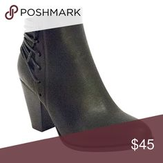 Almost Gone!!! 5⭐️ Black Wrap Lace Leather Bootie HERE!!! Black Wrap Lace Vegan Leather Bootie. Has zipper on the inside, vegan suede, new in box, available in Sizes 6, 6.5, 7, 7.5, 8, 8.5, 9 and 10. No Trades. Price is firm unless bundled. 10% off 2 or more items or 15% 3 or more items. ✨Pictures are of actual booties. GlamVault Shoes Ankle Boots & Booties