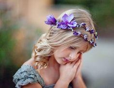 flower girl crown purple flower girl headband by thehoneycomb