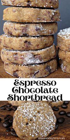 Cookie Desserts, Just Desserts, Cookie Recipes, Delicious Desserts, Dessert Recipes, Yummy Food, Chocolate Shortbread Cookies, Galletas Cookies, Muffins