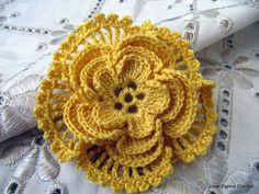 -Beautiful Crochet Flower 4 layer Pattern Pattern