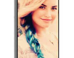 Demi Lovato is strong and beautiful! Also, I'm LOVING the blue hair Demi Lovato, Blue Hair, Hair Pins, Special Occasion, Braids, Hair Beauty, Ruffle Blouse, Celebrities, Beautiful