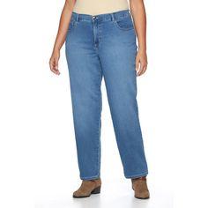 Plus Size Women's Plus Lee Sophie Classic Fit Straight-Leg Jeans, Size: 26W T/L, Dark Blue