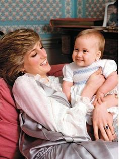 Love this picture of Diana and William
