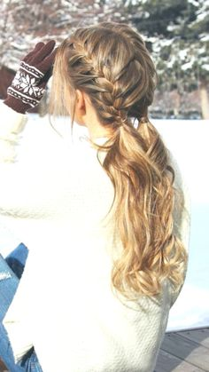 52 Pretty Chic Braided Hairstyles For Every Hair Type - - Best Frisuren ideen College Hairstyles, Easy Hairstyles For School, Spring Hairstyles, Teen Hairstyles, Casual Hairstyles, Hairstyles With Bangs, Braided Hairstyles, Hairstyle Ideas, Natural Hair Styles