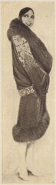 Josephine Baker, illustration from Illustração, 1930