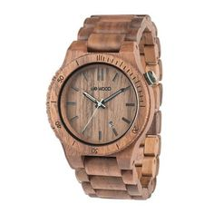"""•100% Natural Wood •Hypo-allergenic•Completely free of toxic chemicals • Premium Multi-function Miyota movement • Hardened, scratch-proof mineral glass• Adjustable to fit any wristWood Watch Dimensions: BAND: 8 1/4"""" (210 mm) FACE (including wood frame/bezel): 1 3/4 inches (46.00 mm) across, and 7/16 inches (11.11mm) thick  Walnut(Nut)Walnut wood is an ideal wood for carvings, wood turnings and is prized as a veneer. Walnut is an extremely strong wood that seldom mars or chips…"""