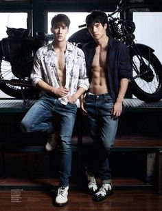 Name: Tul Pakorn and Max Nattapol -Country: Thailand -Thai Actors -Filmography -Together With Me, Bad Romance -Photo Credit: Attitude . Cute Asian Guys, Asian Boys, Asian Men, Pretty Boys, Cute Boys, Asian Male Model, Bad Romance, Kdrama, Surfer Boys