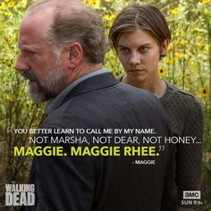 I'm not gonna lie when she said Maggie Rhee I nearly cried...God, emotions!