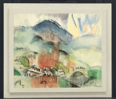 John Marin. Spring Rains, 1918. Alfred Stieglitz Collection. © 2014 Estate of John Marin / Artists Rights Society (ARS), New York.
