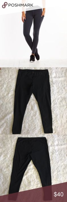Lucy Power Train Pocket Leggings Lucy Lucytech power train pocket black leggings. Size XL. Mesh side pockets and details on the sides and zip pocket in the back. Lucy Pants Leggings