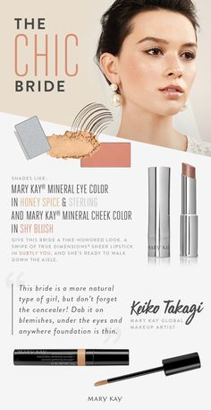 This bride embraces tried-and-true wedding traditions with a subtle, chic makeup look that enhances her natural beauty! | Mary Kay