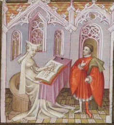 Illumanuearly 15th century (ca. 1400-1410) France  Bibliothèque nationale de France  Français 836: Le Livre du duc des vrais amants by Christine de Pizan