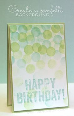 Create a Confetti Card - make confetti dots with ink  sponge daubers!