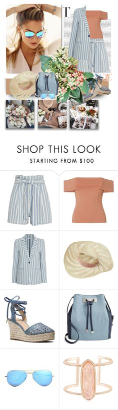 """""""Yes Baby I'm Worth It"""" by jacque-reid ❤ liked on Polyvore featuring Dollhouse, Intermix, Mason by Michelle Mason, Eugenia Kim, MICHAEL Michael Kors, INC International Concepts, Ray-Ban, Kendra Scott, michaelkors and rayban"""