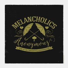 Playing around with this design, thought it would look good as a tshirt.  Melancholics Anonymous is now open membership is free. ☂ #design #illustration #melancholic #melancholicsanonymous
