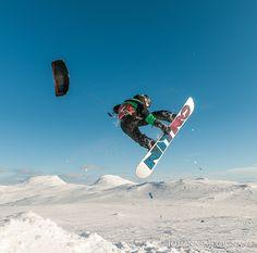 Snow Kite in Jämtland Sweden
