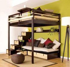 buscando opciones para ahorrar espacio - cama en altura                                                                                                                                                      Más
