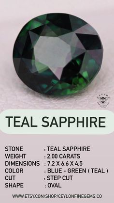 Green Sapphire, Sapphire Stone, Natural Sapphire, Loose Sapphires, Sea Colour, Ring Settings, Love Symbols, Loose Gemstones, Things That Bounce