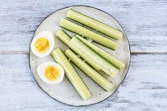 Cucumber and Hard-Boiled Egg