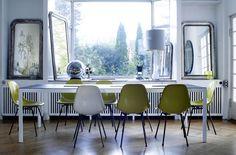 #Comedor blanco y verde #comedor #diningroom #blanco #white #verde #green