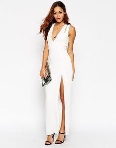 Image 4 ofASOS Premium Crepe Double Strap Plunge Split  Maxi Dress http://www.asos.com/au/ASOS/ASOS-Premium-Crepe-Double-Strap-Plunge-Split-Maxi-Dress/Prod/pgeproduct.aspx?iid=5003795&cid=9979&sh=0&pge=0&pgesize=36&sort=-1&clr=Ecru&totalstyles=397&gridsize=3