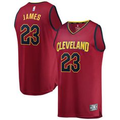 db77a674d Fanatics Branded LeBron James Cleveland Cavaliers Youth Maroon Fast Break  Replica Jersey - Icon Edition Nba
