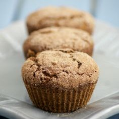 These healthy Gingerbread Muffins have the flavours of your favourite gingerbread cookie in a moist and delicious muffin. Can be GF & Vegan!