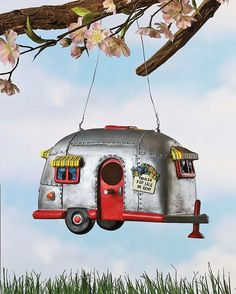 Amazon.com : Camper Birdhouse Trailer Bird House Airstream style Rv Home Decor Yard Garden Porch Patio Country : Home And Garden : Patio, Lawn & Garden