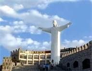 Christ statue overlooking the city of Torreon, Coahuila, Mexico