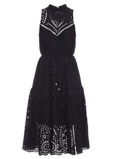 6397cb640 Zimmermann Harlequin broderie-anglaise cotton midi dress High Neckline Dress