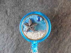 Starfish Badge, Retractable Badge Holder Badge Reel, Id Badge Clip, Badge Jewelry, Nurse ID Gift, Teacher ID Gift, Badge Reel, Magnetic ID by BessTIME on Etsy