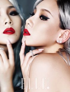2NE1's CL for Elle Korea December 2015. Photographed by Kim Young Joon